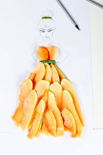 Pictures Creative Pieces Papaya Food Girls