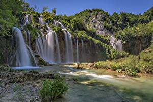 Picture Croatia Parks Waterfalls Rock  Nature