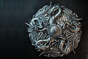 Image Dragons Shield Metal Sasha Vinogradova, Illustration for book cover