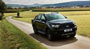 Bilder Ford Wege Pick-up Schwarz Metallisch Ranger, Limited Black Edition auto