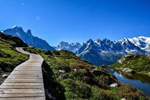 Hintergrundbilder Frankreich Gebirge Himmel Alpen Chamonix, Mont Blanc