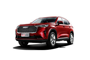 Wallpapers Haval Red Metallic White background Crossover Chinese H6, 2020 auto