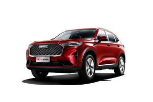 Hintergrundbilder Haval Rot Metallisch Weißer hintergrund Crossover Chinesische H6, 2020 automobil