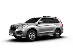Pictures Haval Sport utility vehicle Grey Metallic Side White background H9, 2019 Cars