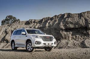 Bakgrunnsbilder Haval SUV Hvite Metallisk H9 ZA-spec, 2018 bil