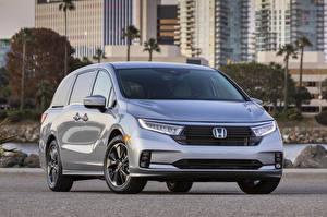Fotos Honda Silber Farbe Metallisch Ein Van Odyssey North America, 2020