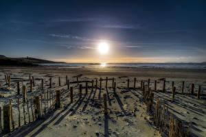 Hintergrundbilder Irland Küste Sonne Strände Donegal, Maghery Beach Natur