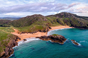 Wallpapers Ireland Coast Sea Rock Melmore Head, Boyeeghter Bay Nature