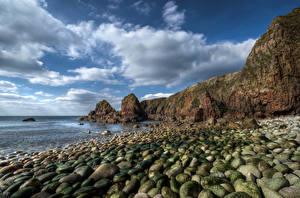 Bilder Irland Küste Steine Felsen Wolke Gweedore Natur