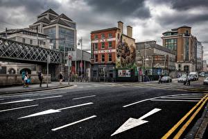 Fotos Irland Dublin Gebäude Wege Stadtstraße Städte