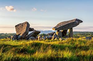 Wallpapers Ireland Stone Grass Kilclooney Dolmen Nature