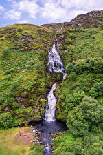 Picture Ireland Waterfalls Stones Cliff Assaranca Waterfall Nature