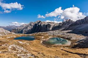 Bilder Italien Gebirge Stein Himmel Wolke Alpen Dolomites Natur