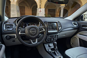 Bilder Jeep Salons Lenkrad Crossover Compass Limited 4xe, EU-spec, 2020