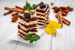 Hintergrundbilder Törtchen Dessert Schokolade Blatt Stück