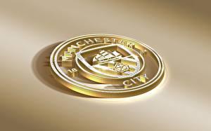 Fotos Logo Emblem Fußball Manchester City, English Club