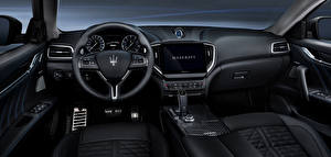 Bakgrunnsbilder Maserati Salons Bil ratt Ghibli GranSport Hybrid, M157, 2020