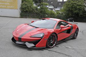 Fondos de escritorio McLaren Rojo Metálico 2017-20 Manhart McLaren 570S automóvil
