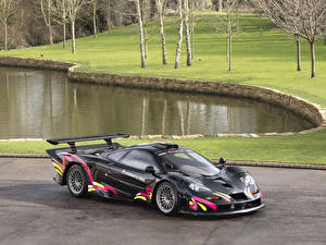 Fonds d'écran McLaren Tuning Noir F1 GTR Longtail Road Conversion voiture