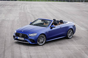 Bilder Mercedes-Benz Cabrio Blau Metallisch E 53 4MATIC, Cabrio Worldwide, A238, 2020 Autos