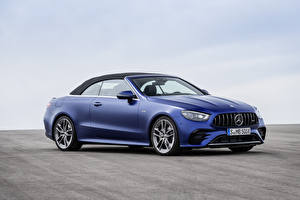 Image Mercedes-Benz Blue Metallic Convertible E 53 4MATIC, Cabrio Worldwide, A238, 2020 Cars