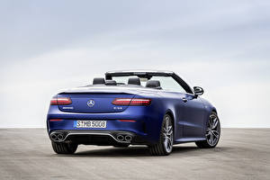 Photo Mercedes-Benz Cabriolet Blue Metallic Back view E 53 4MATIC, Cabrio Worldwide, A238, 2020 auto