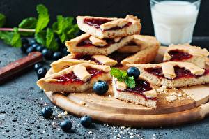 Wallpapers Pie Baking Blueberries Pieces Food