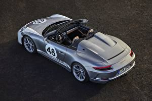 Pictures Porsche From above Roadster Speedster 991 2019 automobile