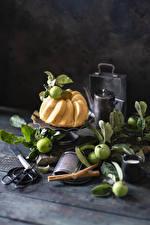 Fotos Keks Äpfel Bretter