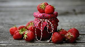 Wallpapers Strawberry Berry Varenye Jar Food