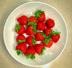 Image Strawberry Plate Food