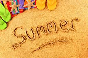 Hintergrundbilder Sommer Wort Englischer Sand