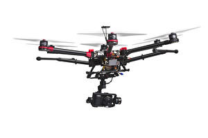 Pictures UAV White background Video camera hexacopter Aviation