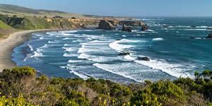 Bilder USA Küste Meer Wasserwelle Kalifornien Natur