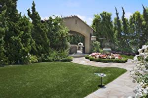 Fotos Vereinigte Staaten Garten Design Rasen Strauch Bäume San Juan Capistrano Natur