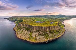 Hintergrundbilder Vereinigtes Königreich Küste Himmel Felsen Hügel Wolke Northern Ireland, Antrim