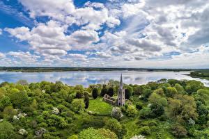Hintergrundbilder Vereinigtes Königreich Himmel Flusse Kirche Wolke Northern Ireland, Magherafelt