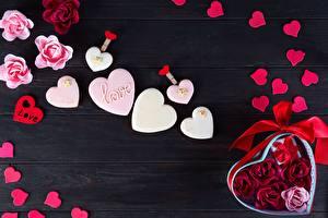 Hintergrundbilder Valentinstag Herz Bretter Dogue de Bordeaux