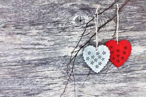 Fotos Valentinstag Zwei Herz Vorlage Grußkarte