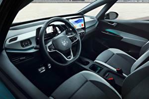 Hintergrundbilder Volkswagen Salons Lenkrad ID.3 1ST Worldwide, 2020