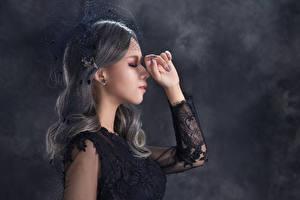 Papel de Parede Desktop Asiático Pose Mão mulheres jovens