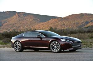 Photo Aston Martin Side Coupe Wine color Metallic Rapide S, 2019-2020 Cars