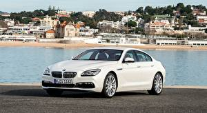 Wallpapers BMW White Metallic Sedan 650i, Gran Coupe, Individual, 2015 Cars