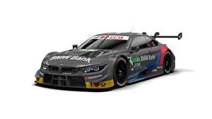 Wallpapers BMW Carbon fiber White background Grey M4, M-Sport, DTM Cars pictures images