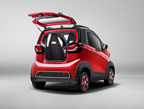 Pictures Baojun Red Metallic Back view Opened door Chinese E100, 2017 automobile