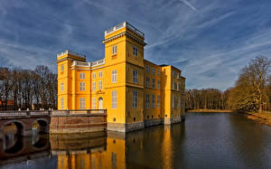 Bilder Belgien Burg Teich D'Ursel Castle