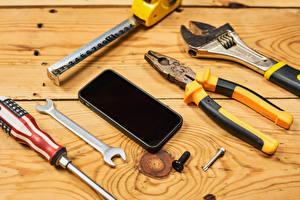 Fondos de escritorio Holzplanken Teléfono Building tools