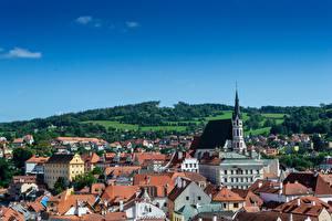 Fotos & Bilder Tschechische Republik Haus Kirche Dach Chesky-Krumlov, Bohemia Städte