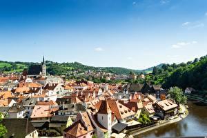 Fotos Tschechische Republik Haus Flusse Chesky-Krumlov, Vltava river, Bohemia Städte