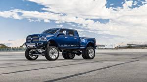 Picture Dodge Pickup Blue Ram 3500 automobile